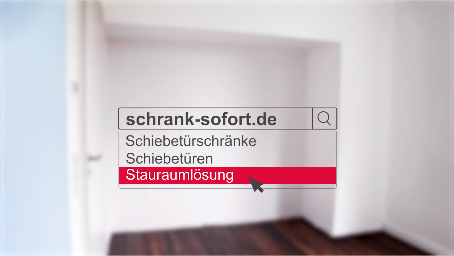 Schrank-sofort >von der Nische zum Stauraum